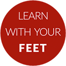 Learn with your feet Logo